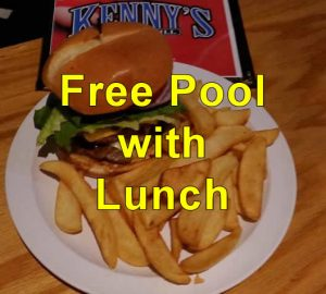 Free Pool with Lunch